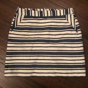 Banana Republic Skirt - Blue and White Striped